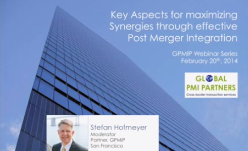 Available for Viewing: Maximizing Synergies Through Effective Post Merger Integration